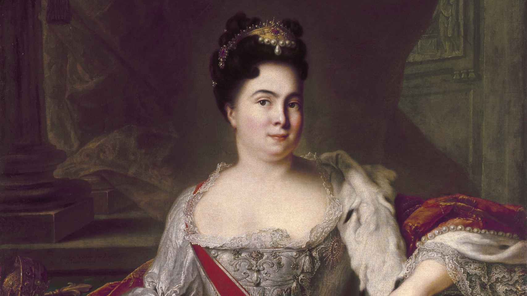 Retrato de Catalina I de Rusia.