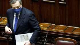 Mario Draghi, este jueves, en el Parlamento italiano.