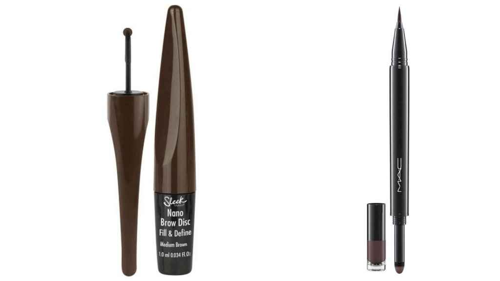 Los pinceles para cejas con tinta semipermanentes  y 'waterproof' ofrecen un resultado muy similar.