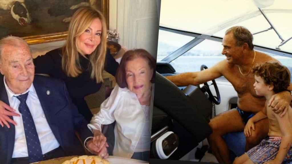Ana Obregón y sus padres, en la imagen que la actriz ha compartido con sus seguidores.