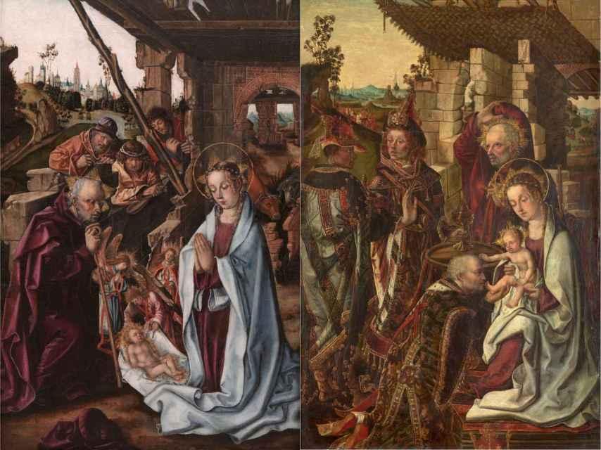 'La Natividad' y 'Adoración de los Reyes Magos', de Francisco y Rodrigo de Osona, dos cuadros entregados al Prado que eran propiedad de Gonzalo Rodríguez.