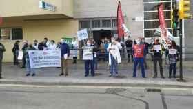 Concentración en un centro de salud de Málaga por una agresión a profesionales sanitarios.