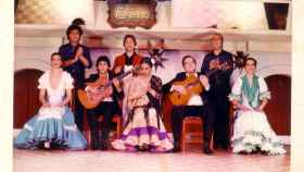 Chiquito de la Calzada, en el tablao El Flamenco en Tokio en los años 80.