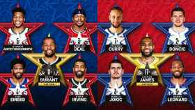 Los quintetos titulares del All Star