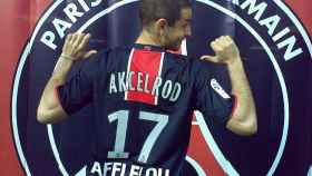 Gregory Akcelrod con la camiseta del PSG