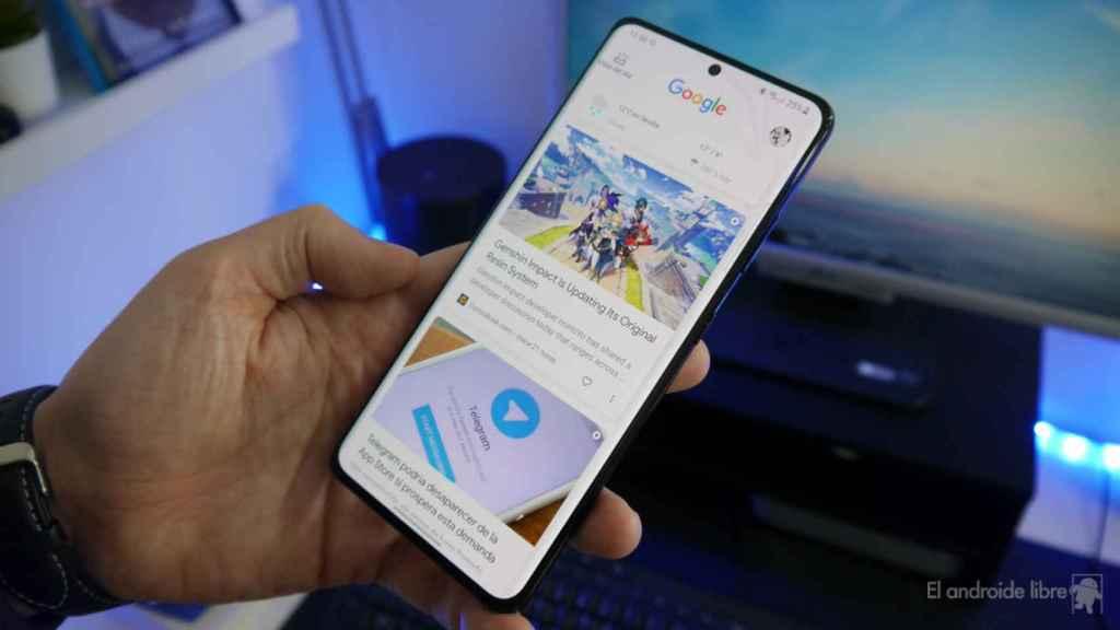 Google Discover en un teléfono Android.