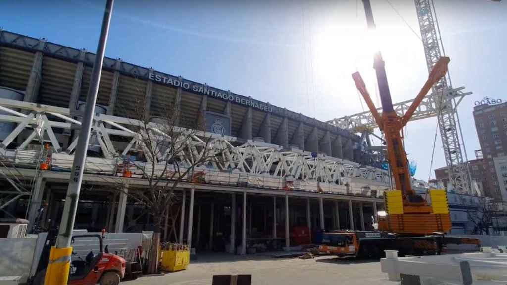 Avance en la construcción de la segunda 'megacercha' del Santiago Bernanéu