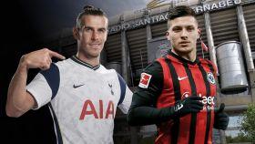 Bale y Jovic, en un fotomontaje