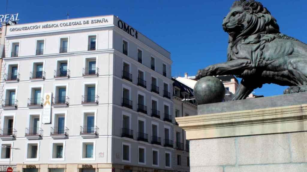 Fachada del Consejo General de Colegios Oficiales de Médicos de España (Cgcom)