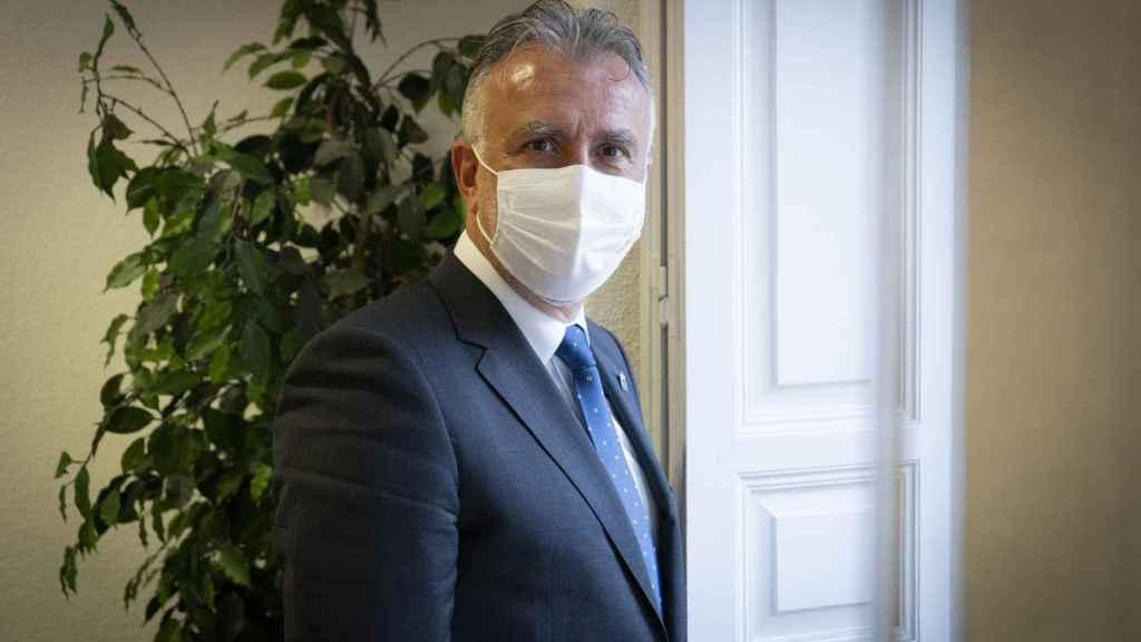 El presidente,  Ángel Víctor Torres, en la sede del Gobierno de Canarias en Madrid.
