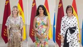 Las consejeras de Ciudadanos, Ana Martínez Vidal, Beatriz Ballesteros e Isabel Franco.