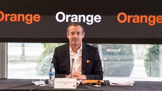 Jean-François Fallacher, CEO de Orange España, durante la presentación de resultados 2020.