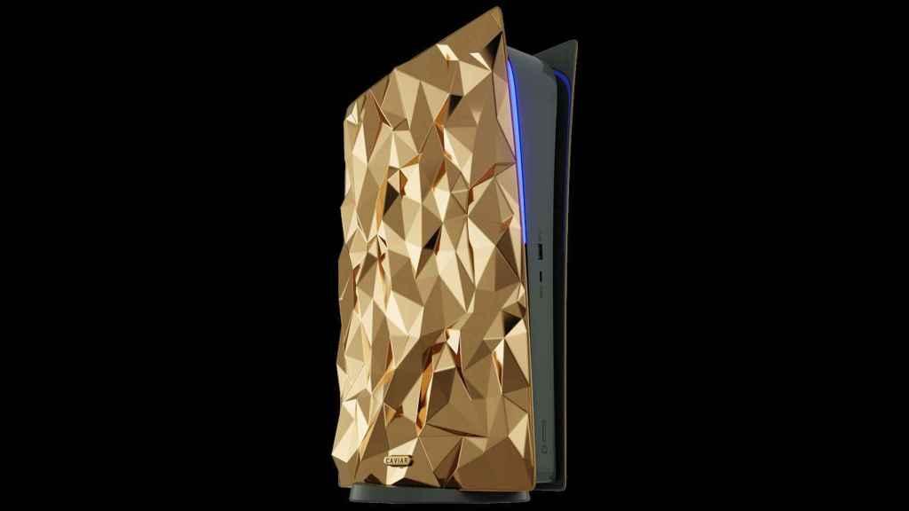 Caviar ha presentado una PlayStation 5 cubierta de oro