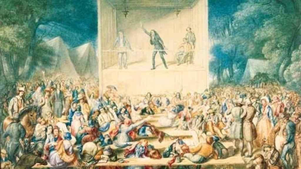 Campo de adoctrinamiento metodista durante el Segundo Gran Despertar americano.