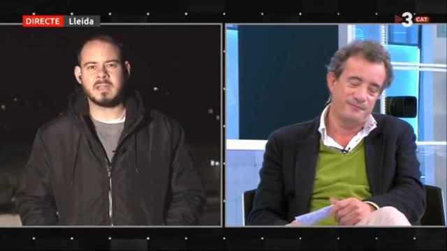 Entrevista a Hasél en TV3.