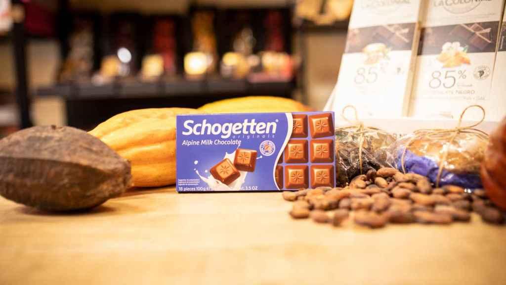 La tableta de chocolate con leche Schogetten, la marca blanca de Aldi.