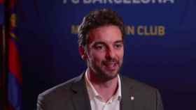 Pau Gasol, en un acto del Barça