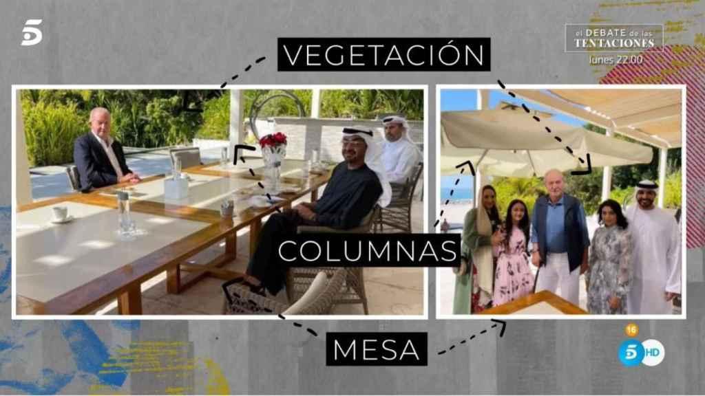 Las dos imágenes de Juan Carlos que han ayudado en la investigación.
