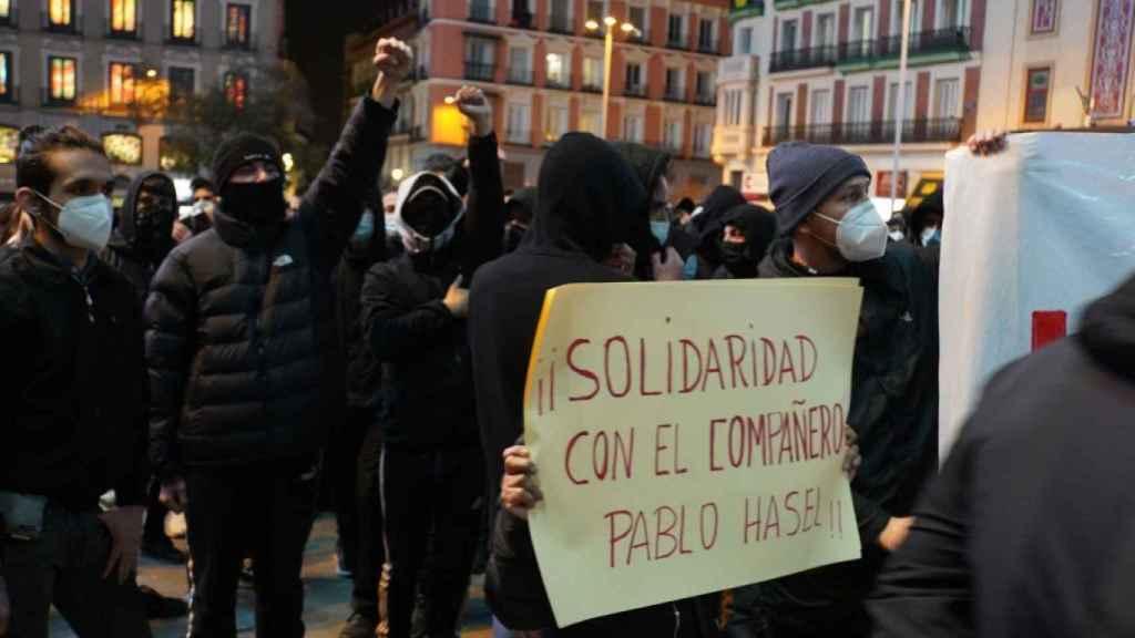 Manifestación por Hasél en Madrid.