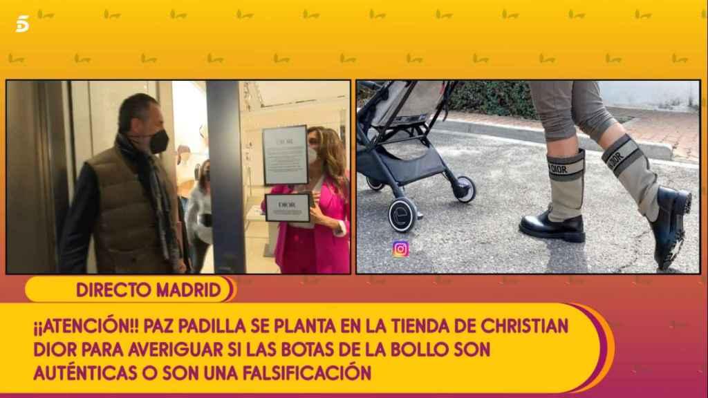 Surrealismo máximo en 'Sálvame': Paz Padilla se topa con Marichalar en una tienda de lujo