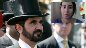 La princesa Latifa y el emir de Dubái en un montaje de JALEOS.