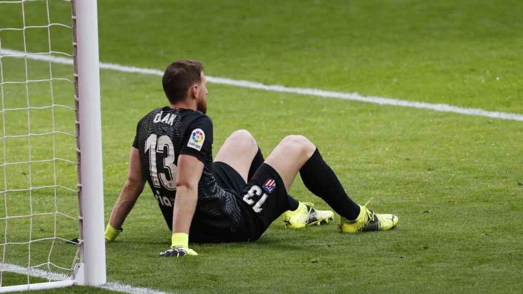 Jan Oblak, tras el gol del Levante