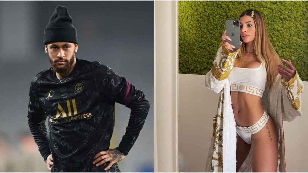 Collage fotográfico entre Neymar y la influencer Chiara Nasti