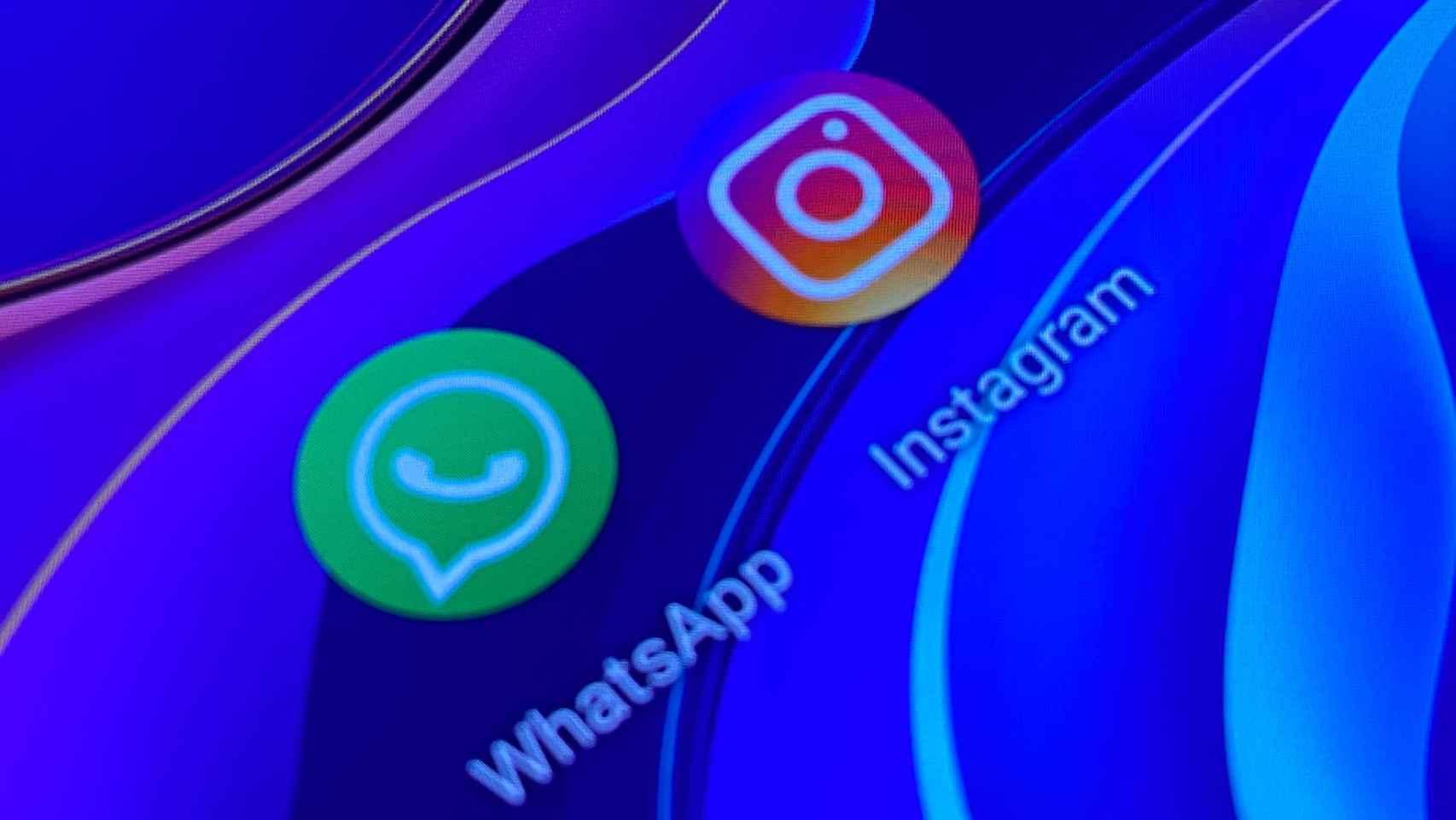 Apps de Instagram y WhatsApp