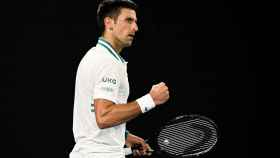 Djokovic, durante la final del Abierto de Australia.