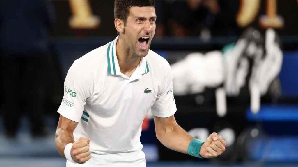 Novak Djokovic, eufórico tras ganar en el Open de Australia