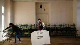 Un momento de la jornada electoral.