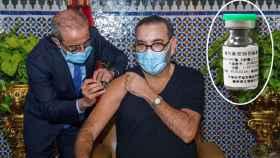 Mohamed VI se pone la vacuna china contra la Covid-19.