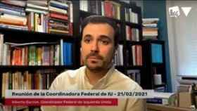 El coordinador federal de Izquierda Unida y ministro de Consumo, Alberto Garzón.