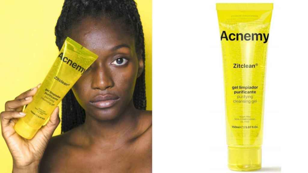 Acnemy Zitclean purifying cleansing gel reduces and slows adult acne.