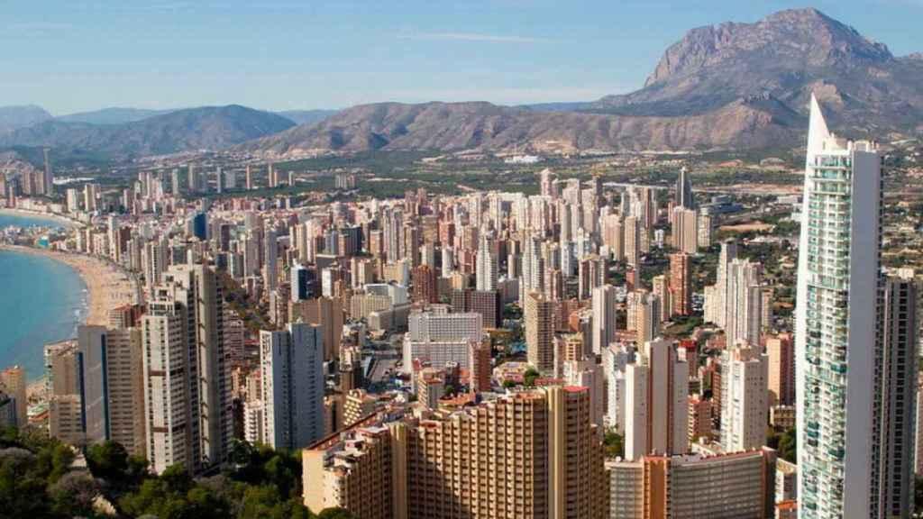 Panorámica de las torres de apartamentos de Benidorm.