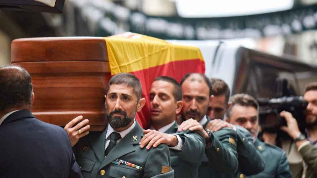 Entierro en la Catedral de Granada del guardia civil José Manuel Arcos Sánhez.