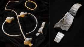 Varias de las piezas del tesoro de la Isla de Man.