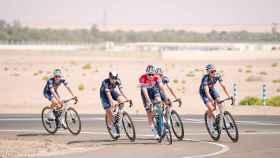 Mathieu Van der Poel y el equipo Alpecin en el UAE Tour