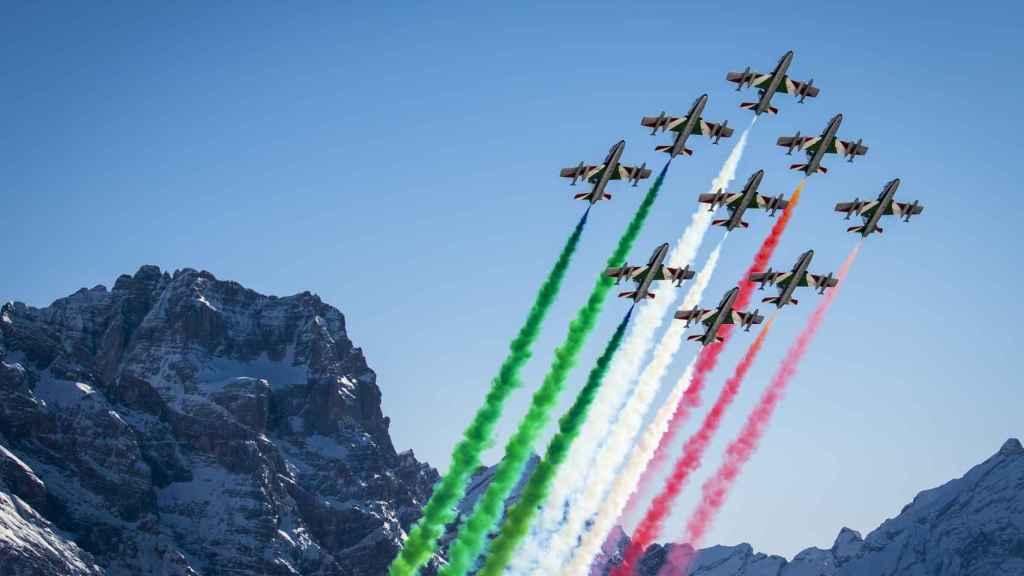 Presentación de los mundiales de esquí alpino en Cortina d'Ampezzo