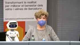 Misty y Margarida, ayer, durante la rueda de prensa.