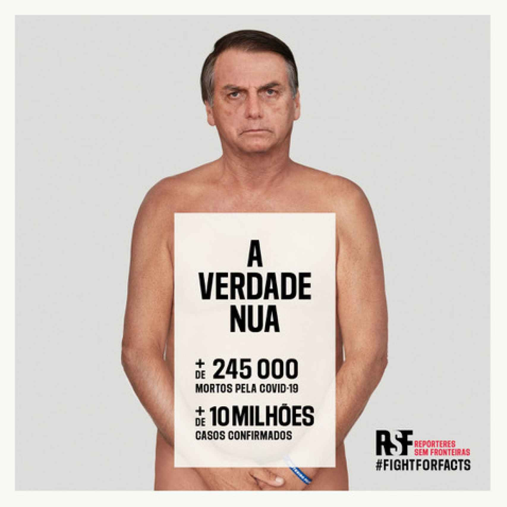 La campaña de Reporteros sin Fronteras.