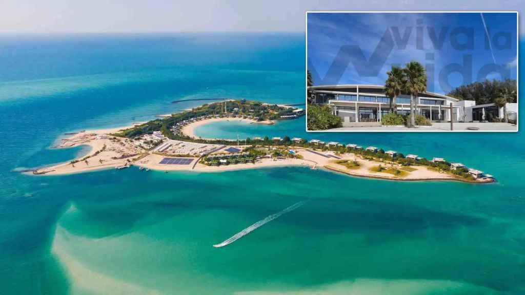 La isla de Nurai, en el Golfo Pérsico, alberga la nueva mansión donde reside el rey Juan Carlos.