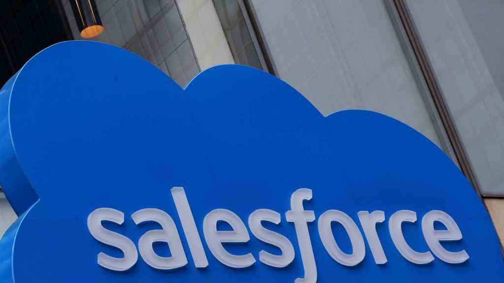 El logo de Salesforce, en sus oficinas de Nueva York. Foto: Reuters