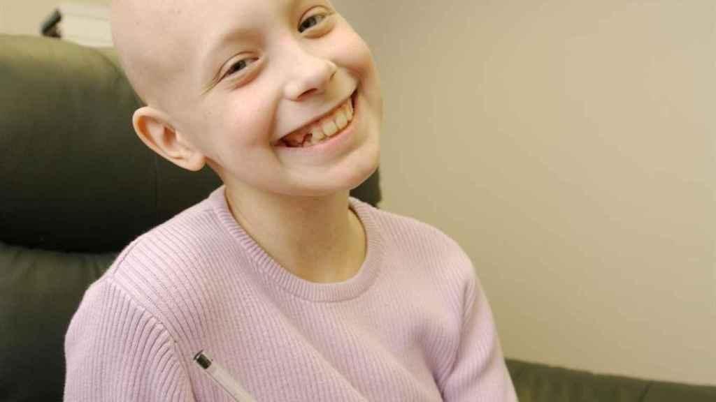 Hayley, en una foto de 2002, cuando estaba en pleno tratamiento oncológico.