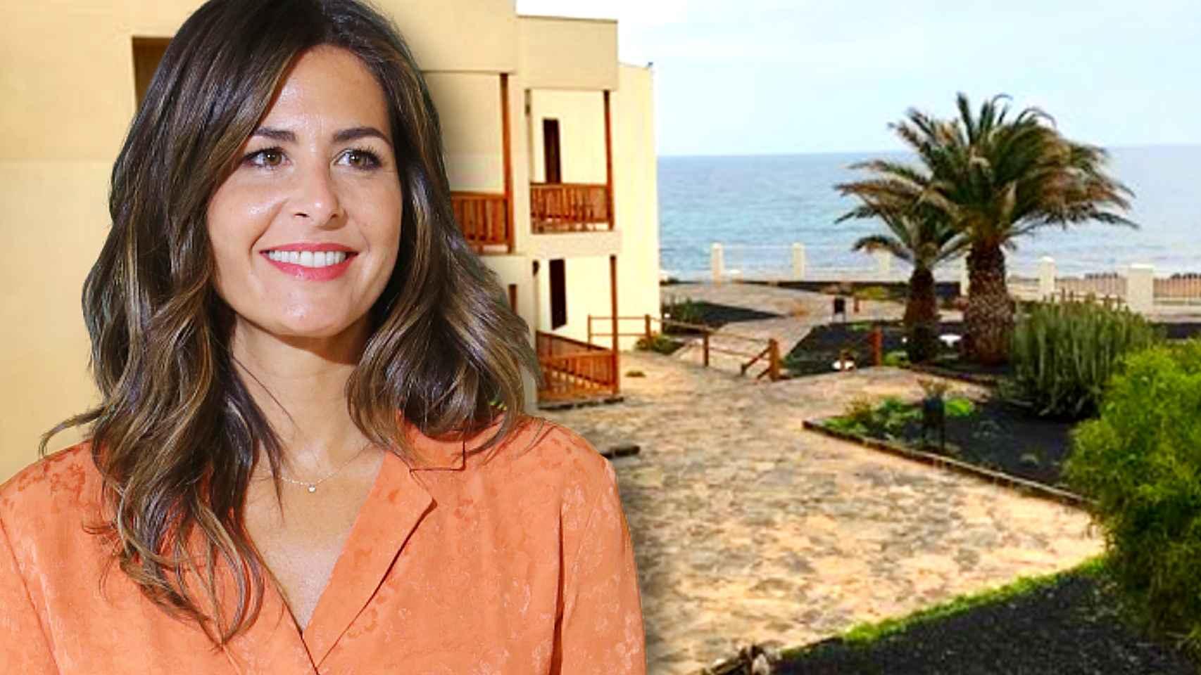 Nuria Roca se encuentra en Fuerteventura, pero no precisamente de vacaciones.
