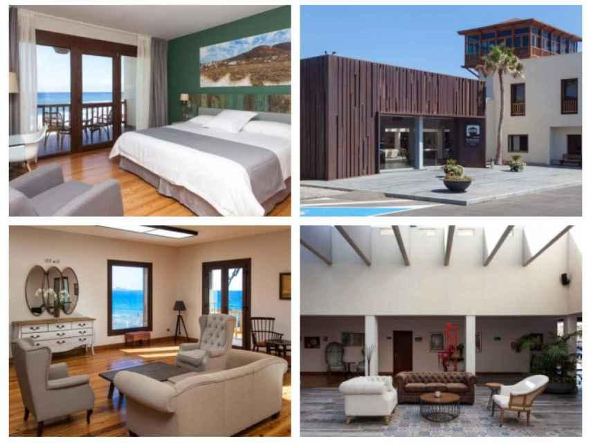 Algunas de las estancias del hotel en el que se aloja Nuria Roca.