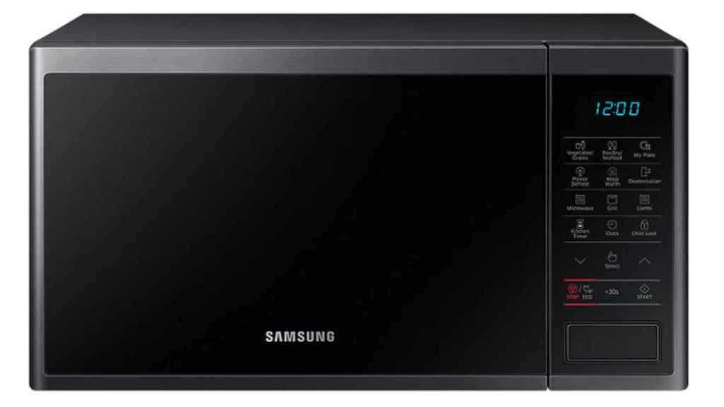 Un microondas de la marca Samsung.