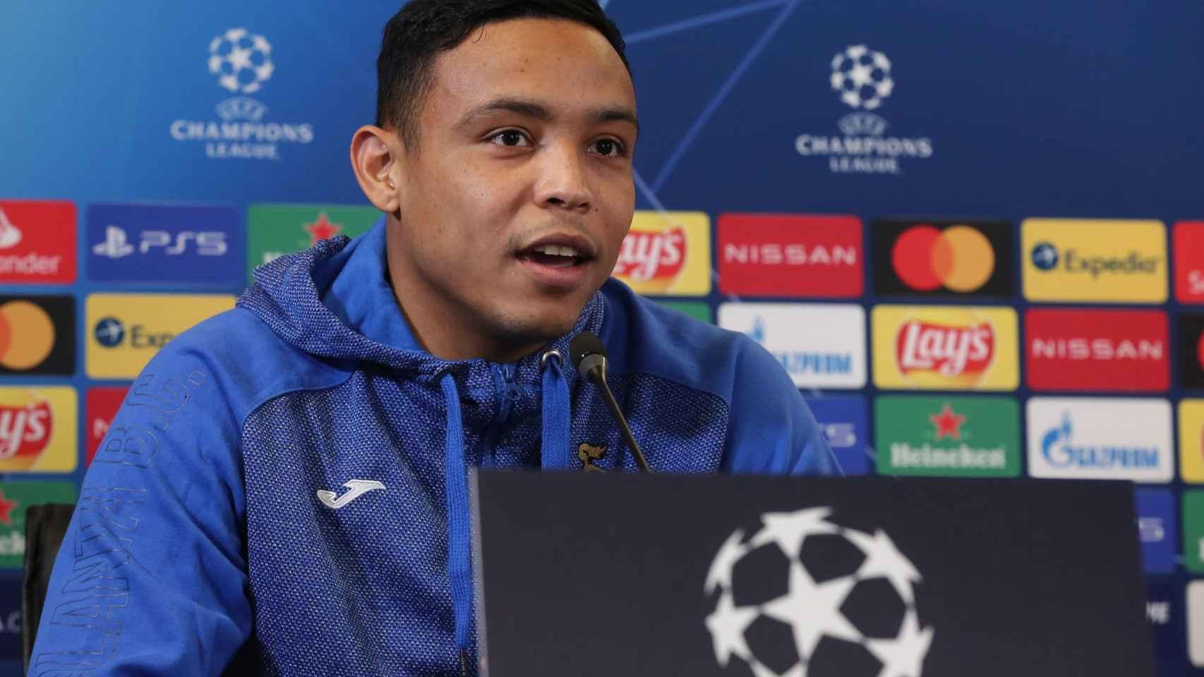 Luis Muriel, durante una rueda de prensa