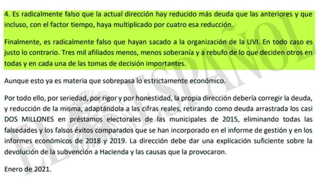 El excoordinador federal critica la coalición de Unidas Podemos.