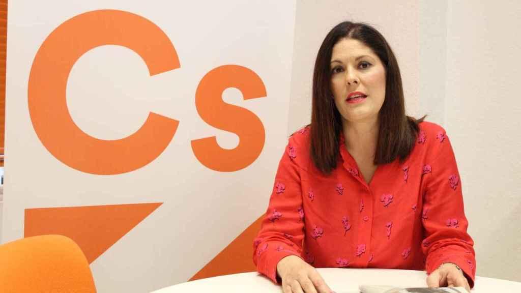 Noelia Losada en el despacho del Grupo Municipal de Cs.